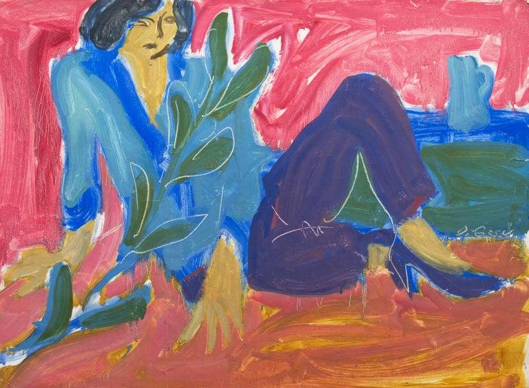 Victor Di Gesu Figurative Painting - California Post-Impressionist 'Woman Seated', Louvre, LACMA, Académie Chaumière