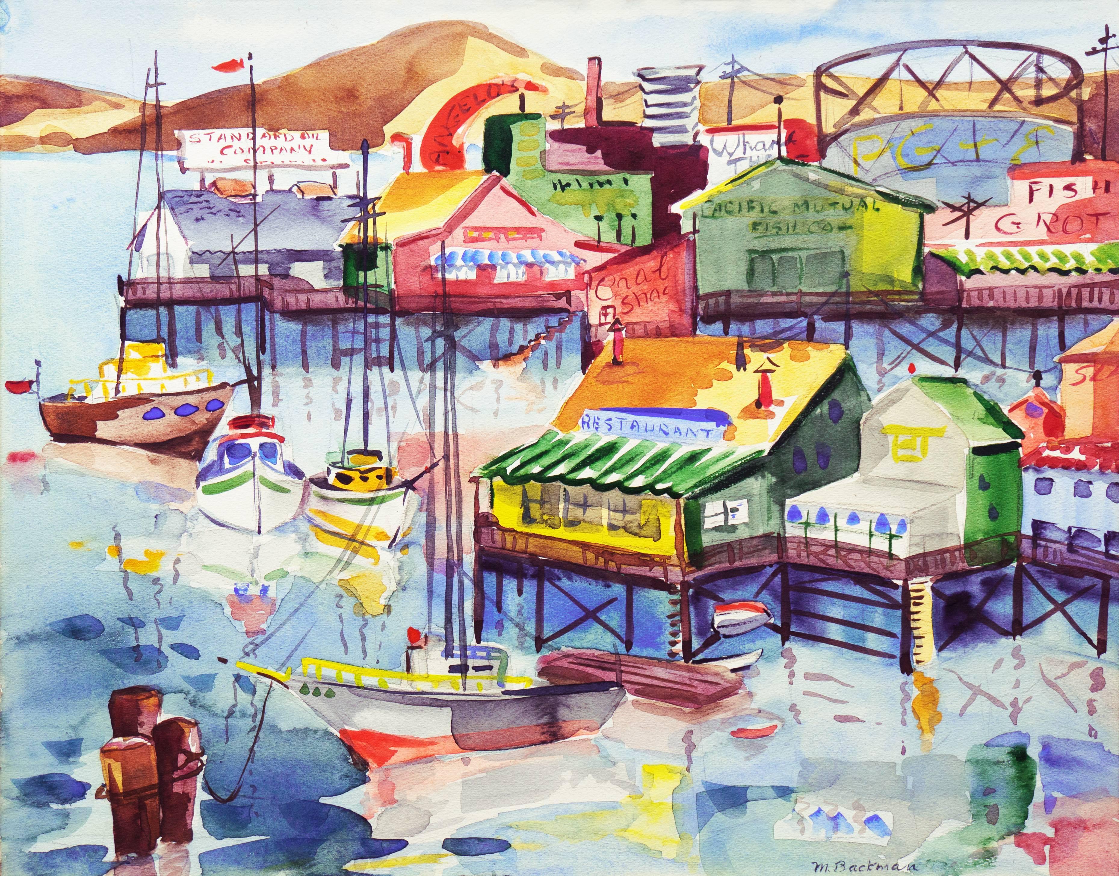 'Fisherman's Wharf, Monterey', Modernist California Artist, Crocker Art Museum