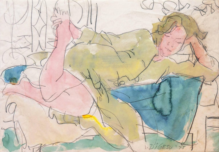 California Post-Impressionist 'Woman Reclining' Louvre, Académie Chaumière, SFAA - Art by Victor Di Gesu