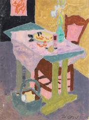 Interior with Green Table