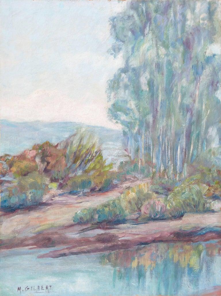 Mae Hill Gilbert Landscape Painting - 'River Landscape', American Impressionist, Carmel Art Association, Plein Air