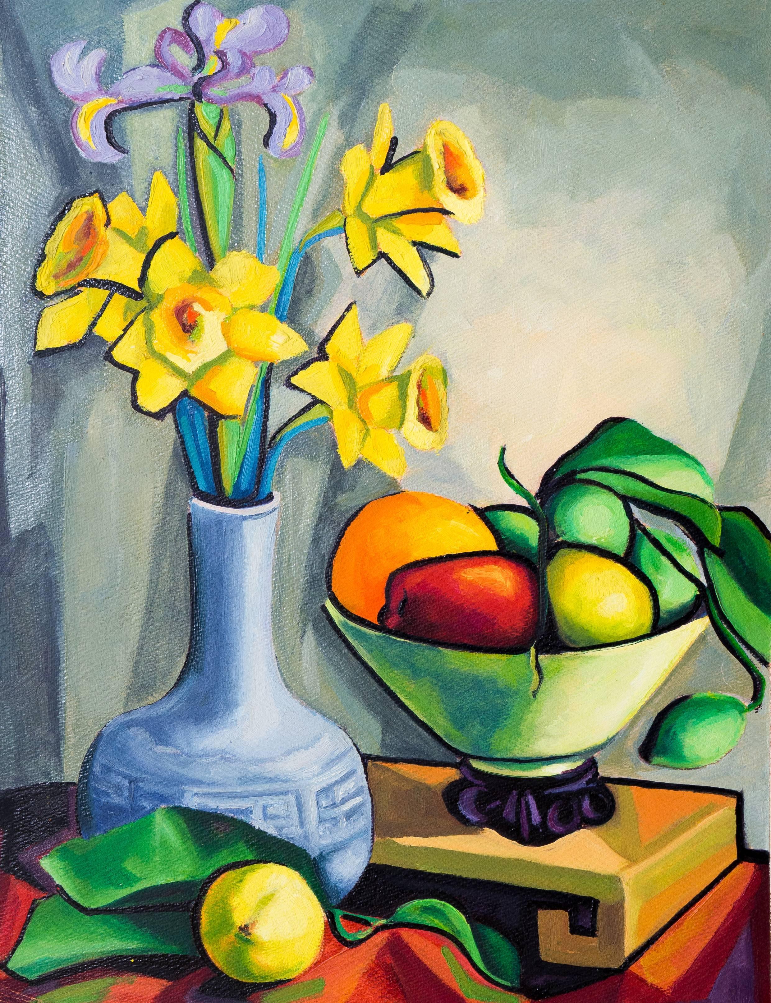 'Still Life with Daffodils', Carmel, California Woman Artist, PAFA, SWA