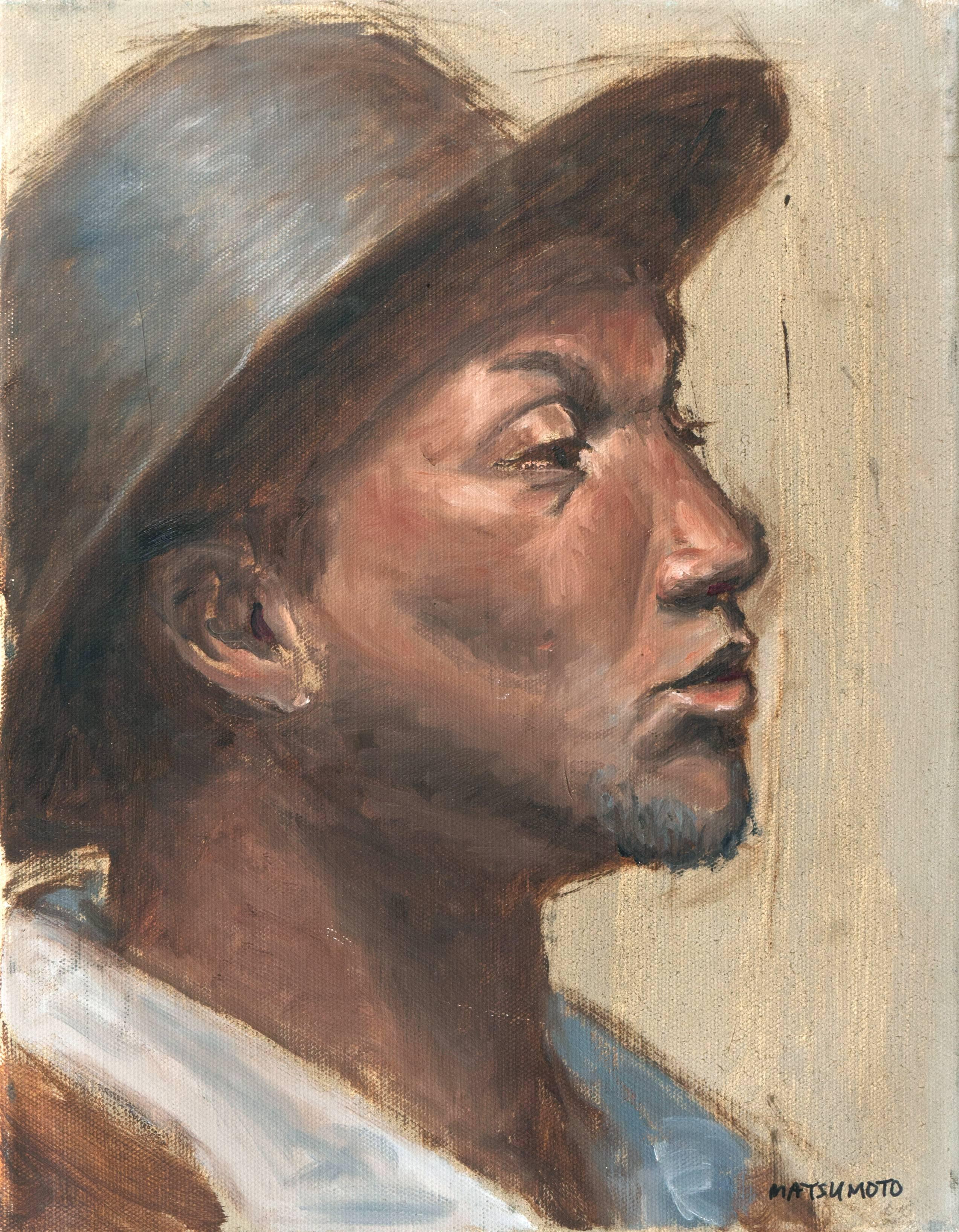 'Young Man in a Hat', Figural Portrait