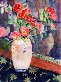 'Dog Roses in a Satsuma Vase'