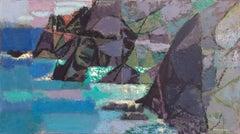 'View of the Pacific Coast Headland', AIC, MMA, PAFA, California Modernist Oil