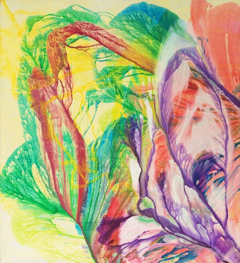 Frealon Norden Bibbins Abstract Painting - Large Vibrant California Abstract, 'Ocean Flowers', San Francisco Symphony