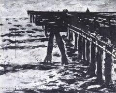 'Venice Pier', Substantial, Contemporary Los Angeles Coastal Landscape