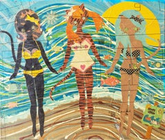 'Kitties at the Beach', Contemporary California artist