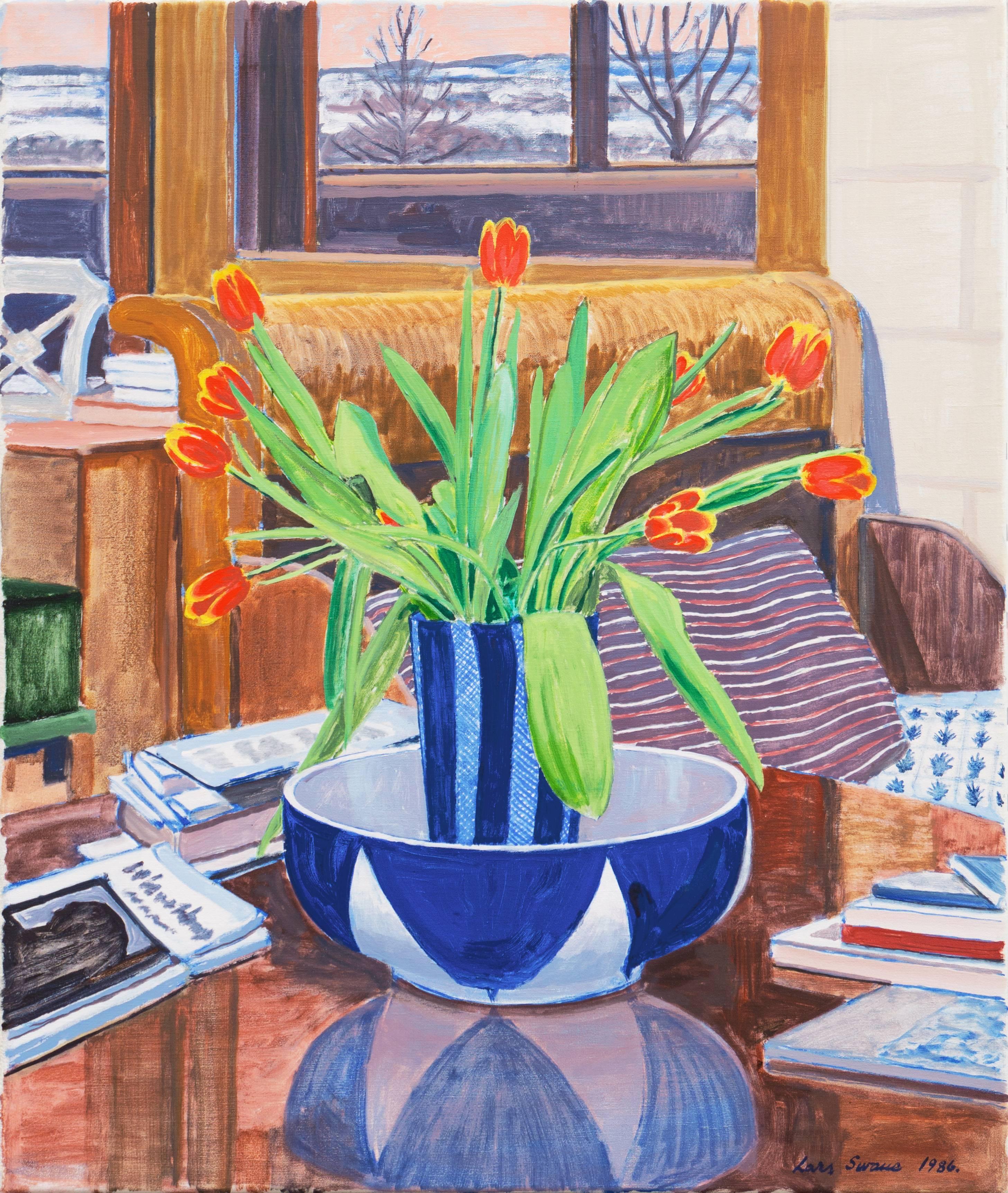 'Red and Yellow Tulips', Danish Post-Impressionist, Copenhagen