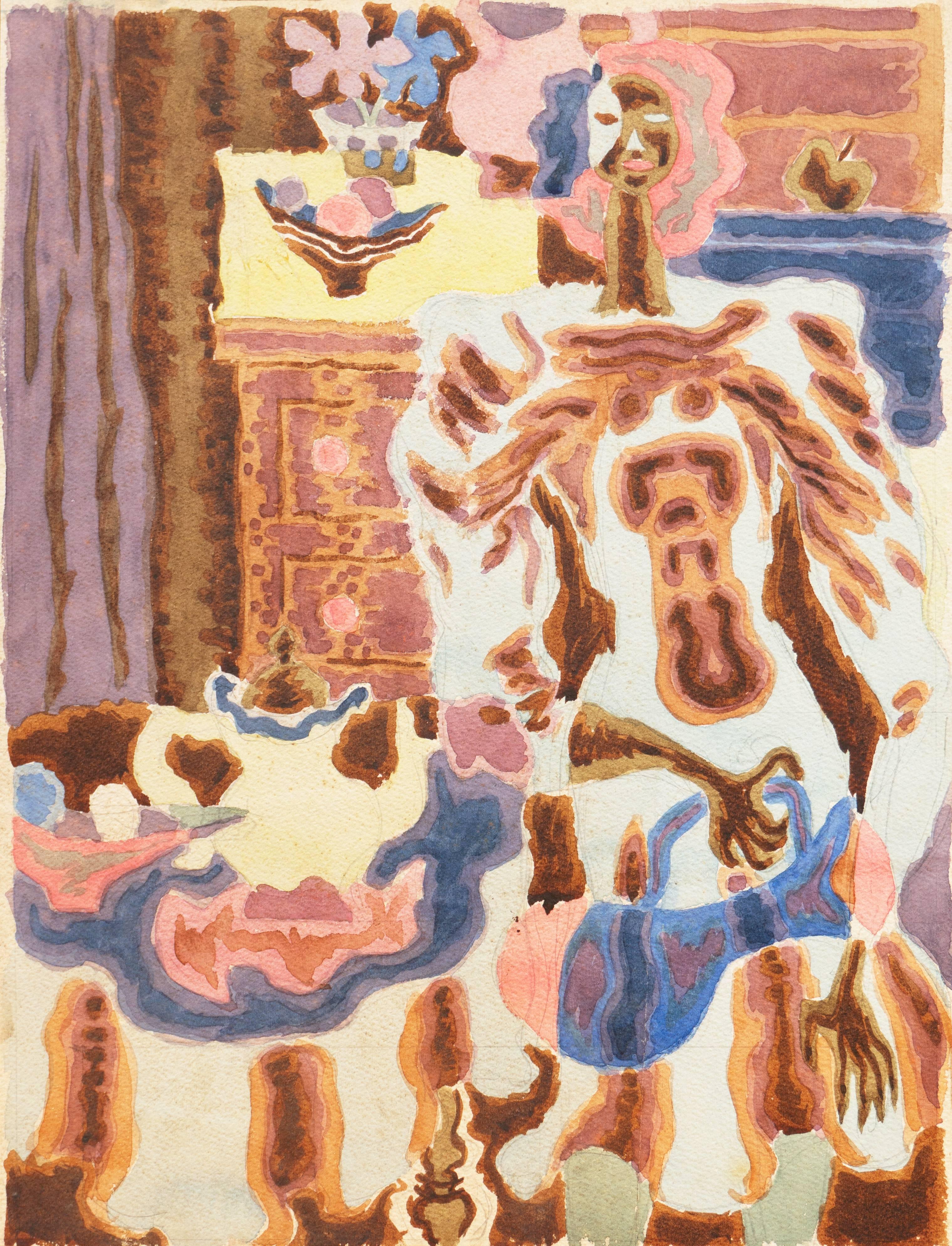 California Post-Impressionist 'Woman Seated', Louvre, Académie Chaumière, LACMA