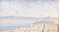 'View of San Francisco with Coit Tower', Bay Area, California, Pointillist Oil