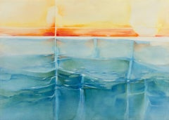 'Refracted Sunset, Coral and Ocean Blue', Seascape