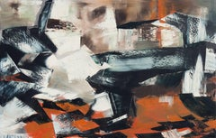 'Abstract in Ebony & Rust', San Francisco Bay Area Abstraction, Large Oil
