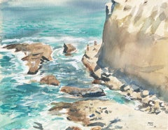 Pacific Coast   (Post-Impressionism, California, Modernism, blue, blue-green)