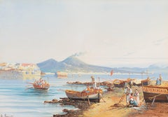 The Bay of Naples with Vesuvius