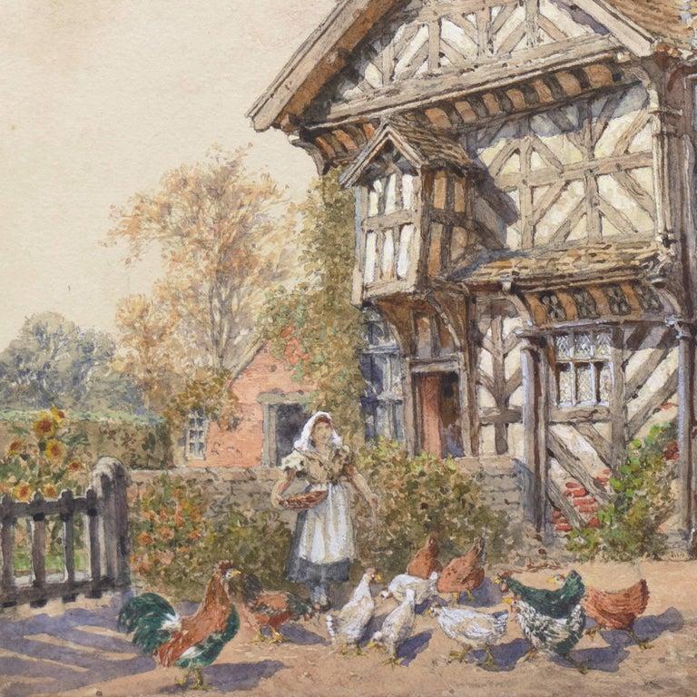 'Little Moreton Hall, Cheshire, England', Tudor Architecture, National Gallery - Realist Art by Edward Salomons