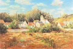 'Landscape in Provence', American Impressionist, California artist