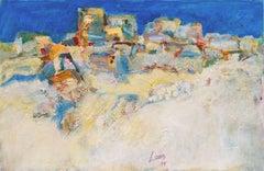 Post-Impressionist landscape, 'Aegean Blue', Crete