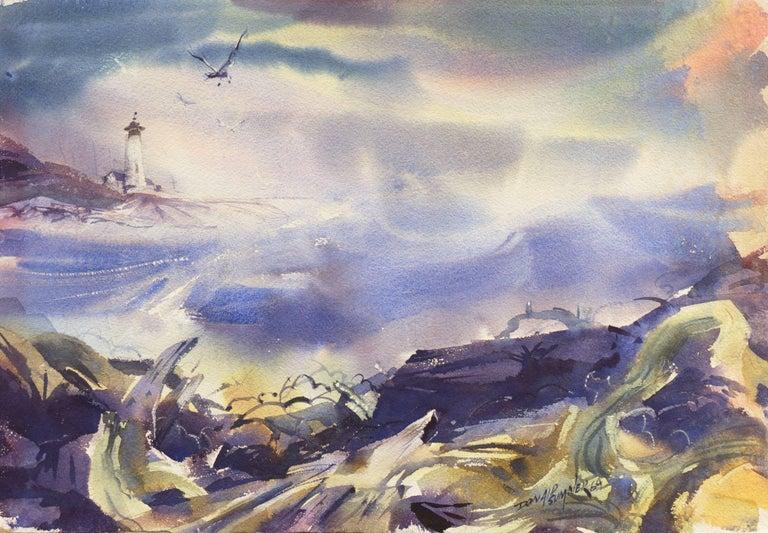 Donald Sumner Landscape Art - 'After the Storm', Impressionist Seascape