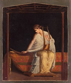 Woman Seated with Harp and Kithara