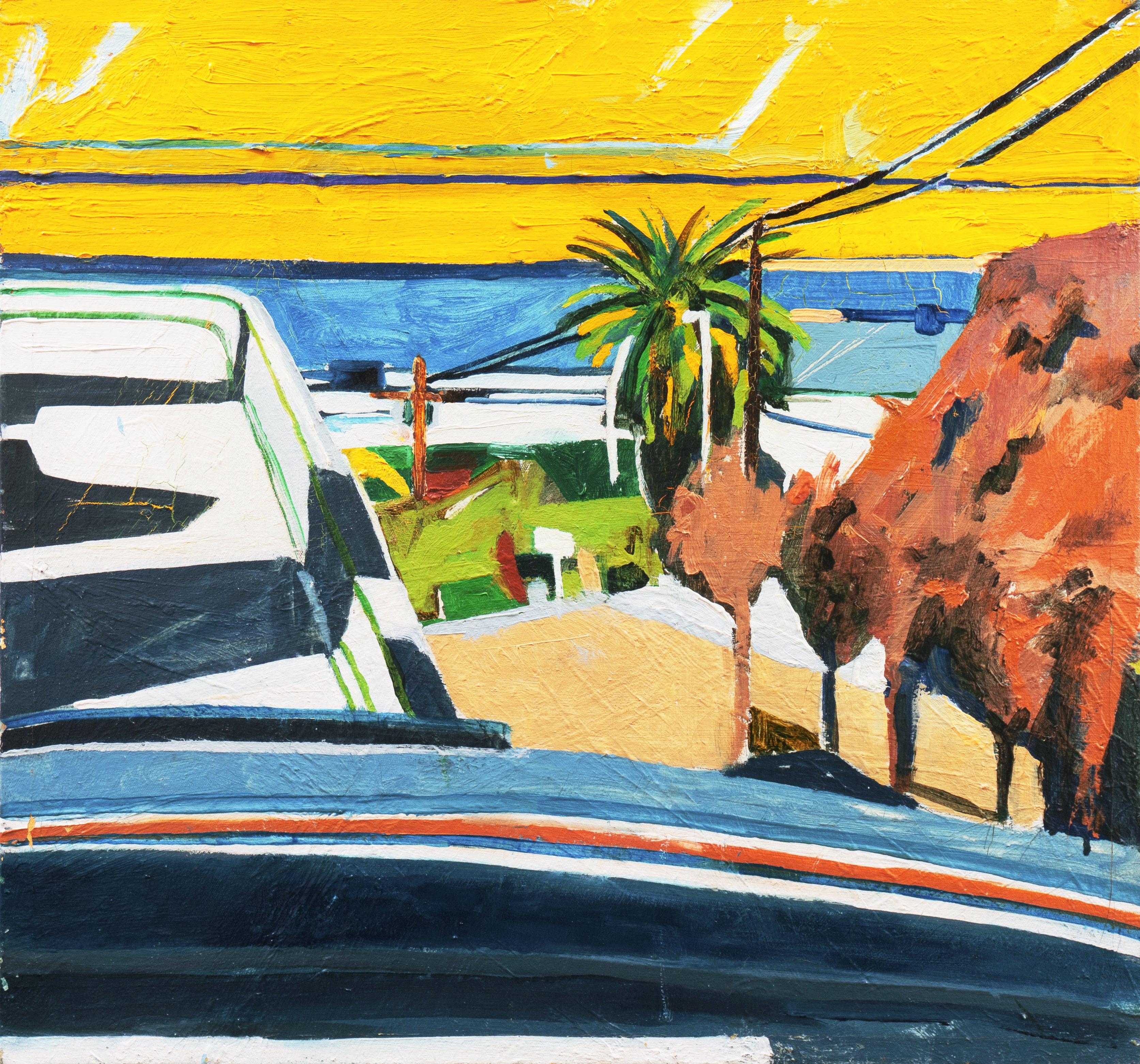 'Ocean View, California', Pasadena Art Institute, Hollywood, Urban Modernist Oil