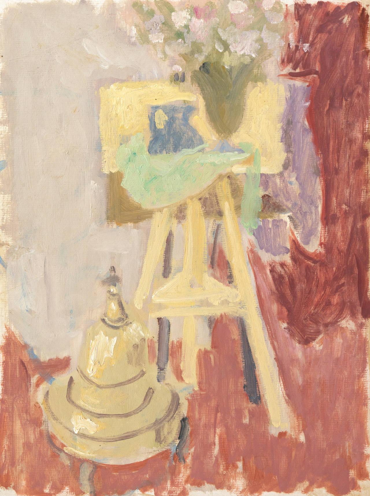 California Post-Impressionist 'Artist's Studio' Louvre LACMA, Académie Chaumière