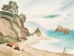 'Hidden Cove, Big Sur', California, Society of Western Artists, Who was Who