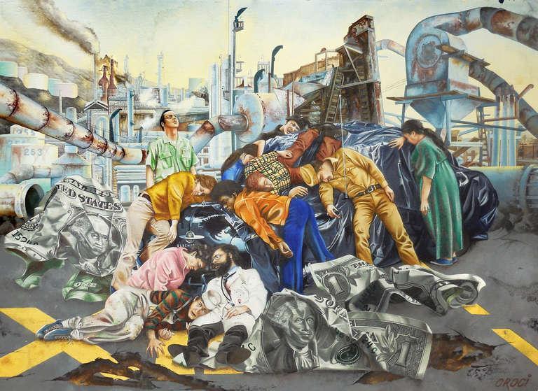 Large Social Realist, 'The Fall of America', Illustrator, Beat, Allen Ginsberg