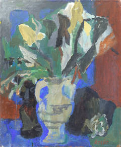 Lilies in a White Vase