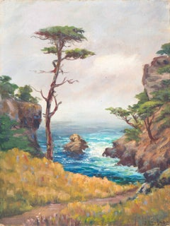 'Carmel Coast', California Plein Air Impressionist oil, Oakland Museum