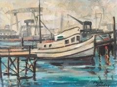 'Fishing Boat in Harbor', Oakland, California, Woman artist