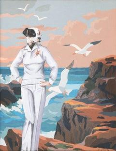 'Breathe on Me', Surrealist oil Figural
