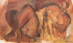 Large Modernist Reclining Nude