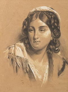 Portrait of a Young Woman, 19th Century Academic Realism