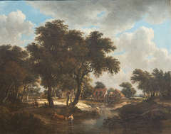 Landscape with Millhouse and Figures