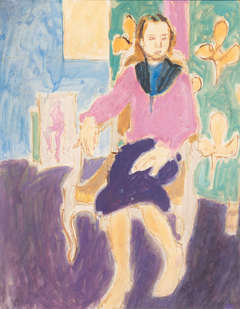 Woman Seated in Interior