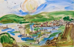 'Northern California Harbor', Marin, San Francisco, California Woman artist