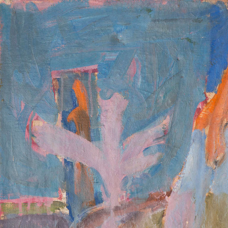 Signed lower right 'Di Gesu' and painted circa 1955.  A winner of the Prix Othon Friesz, Victor di Gesu first attended the Chouinard Art School before moving to Paris where he studied with Andre L'Hote at the Academie de la Grande Chaumiere. He