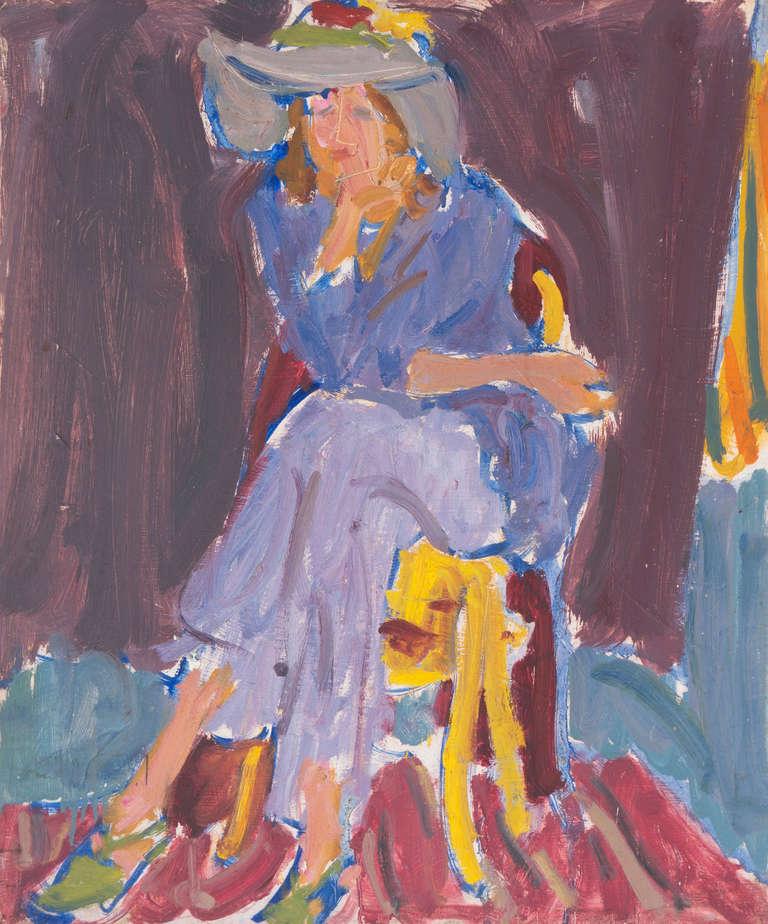 'Seated Woman', Louvre, LACMA, Académie Chaumière, California Post-Impressionist