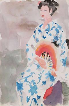 The Blue and White Kimono