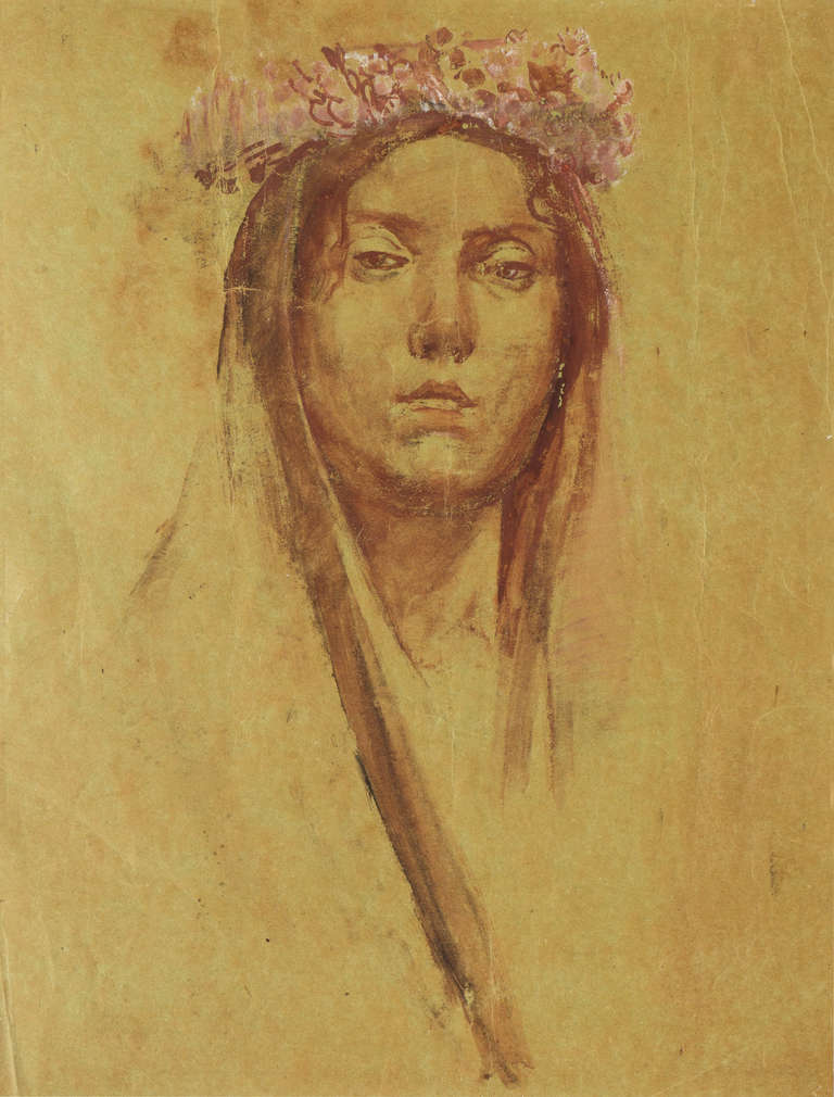 Portrait of a Young Romany Woman