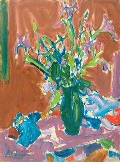 California Post-Impressionist 'Irises', Louvre, LACMA, SFAA, Académie Chaumière