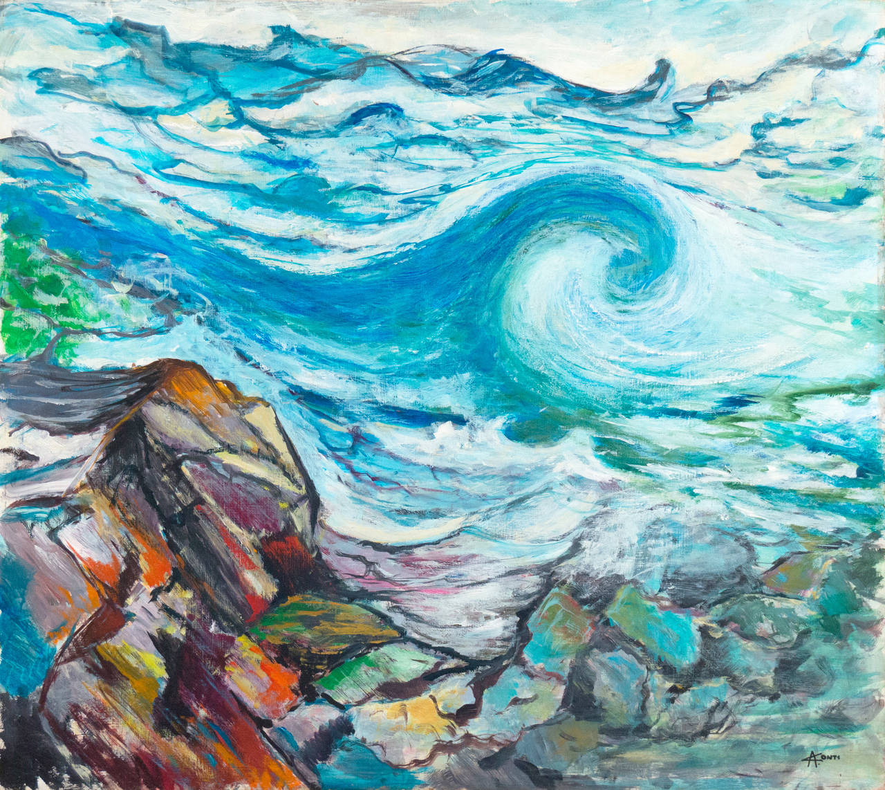 alberto conti anatomy of a wave painting for sale at