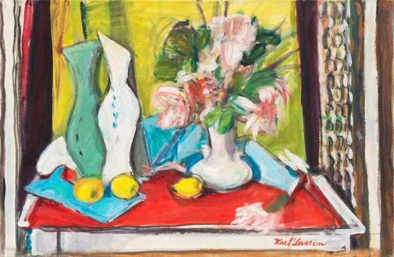 'Still Life of Flowers', Paris, Salon D'Automne, Danish Avant-Garde, 'The Four'