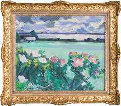 Evening Landscape with Roses