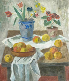 Flowers and Apples, Circa 1935