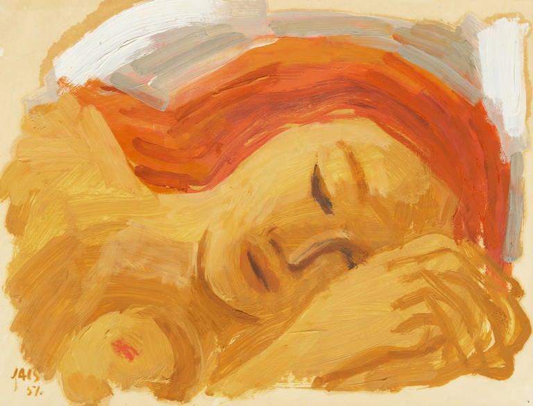 'Woman Sleeping', Early Paris Post Impressionist Oil, Salon d'Automne, Fauve