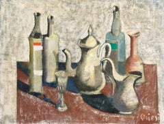 'Still Life, Carafe and Coffeepot', Italian Modernist style of Giorgio Morandi