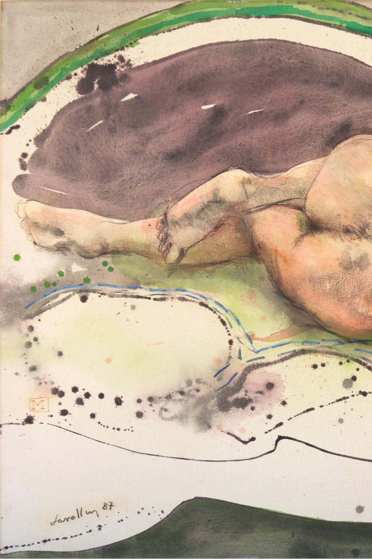 Mujer Dormida - Painting by Julio Lavallen