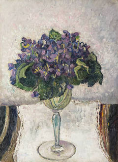Violets in a Wine Glass